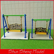 1:75 playground swing chair model architecture garder scale swing chair
