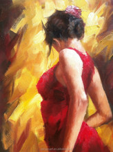 Best Seller Beautiful dancing woman oil painting