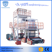 three layers co-extrusion film blowing machine with good price