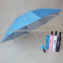 3 fold wine bottle umbrella XK-001
