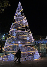 2015 street display outdoor led christmas tree giant