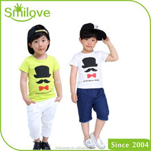 Summer hot selling brand name clothing factory breathable comfortable cotton spandex children plain t shirt