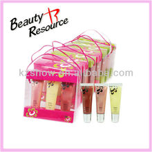 2013 Colourful Design 3 colour lipgloss Crystal bag set cosmetics set makeup set