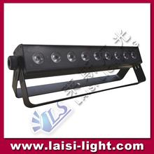 RGB/White led strobe wash 9pcs LED Wall Washer bar light