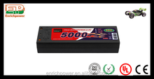 Hot selling 2S1P 5000mAh 35C rechargeable battery for remote control car battery