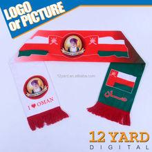 I love Oman national day vote souvenir polyester scarves