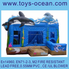 inflatable shark combo game /inflatable shark bouncer with slide /inflatable bouncer with basketball hoop