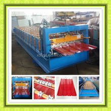 new styel full automatic color steel roof / wall roll forming machine, roof tile forming machinery line