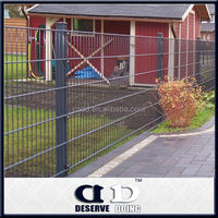 Wholesale price plastic coated welded steel wire mesh fence panels/fencing system