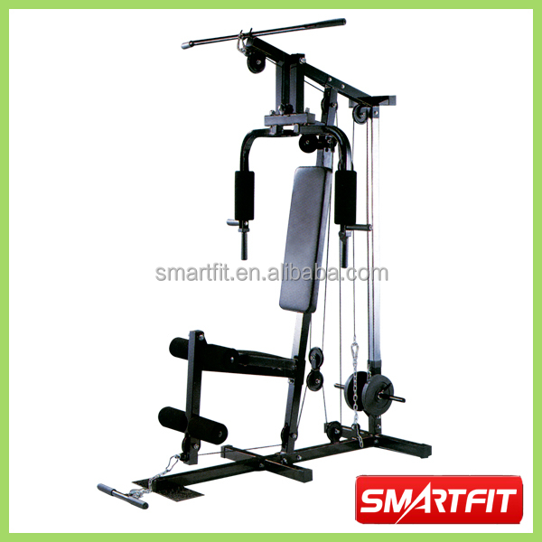 Easy Home Exercise Equipment: Common Easy Using Free Weight Non Plate Loaded One Station