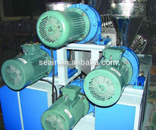 Hot sale chinese factory pp/pe three color drink straw making machine / production line