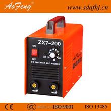 portable welding machine zx7-200 inverter ac arc 200 welder 200 amp arc welding machine