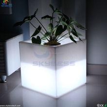 Navidad maceta outdoor / indoor plaza planter muebles / brillante que cambia de color vainas