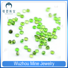 Hot sale 1-3mm hot sale round cut natural diopside in loose stone