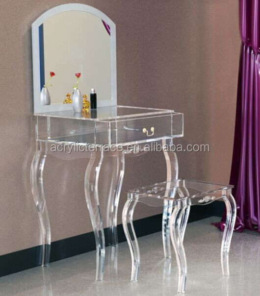 acrylic dressing table  2071507103 Lucite Dressing Table With Mirror,Acrylic Dressing Stool ...