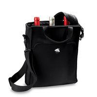 3 packed portable neoprene wine cooler bag with shoulder strap