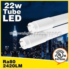 Wide use g13 led ul lights smd 22w CRI 75 2200lm luminous