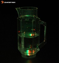 colorful transparent unbreakable small glass pitcher with with lid