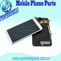 Mobile phone lcd screen for samsung note2 n7100 n7102 n7105 display touch with frame assembly