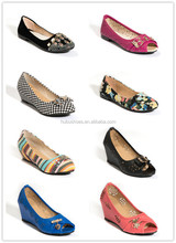 OEM lady flattie women casual leather shoes made in china