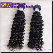 Wholesale price cheap 24 inch hair extension high quality virgin human hair weft hair weave deep curly