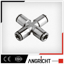 B116 MPZ Copper material Cross joint type four way pipe tube fitting