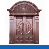 Top grade fashion model arched double entry doors