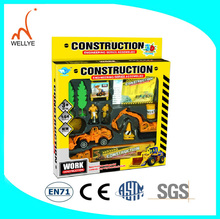 Cheaper metal pull back toy car diecast forklift 1 43 diecast model cars Made in china