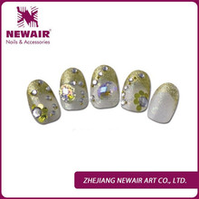 Little bear candy purple nail art