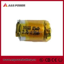 3.7v 85mah Bluetooth Earphone battery 10160 Model UL Approved