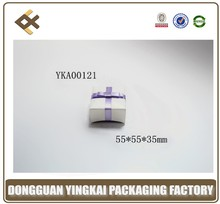 High quality hot selling white special paper cardboard ring/eardrop/ necklace box with bowknot