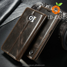 New Fashion Flip Stand genuine leather mobile/cell phone case for samsung S6 EDGE