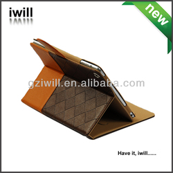 iwill custom weave knit stand leather case for ipad air