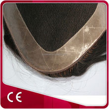 Full Pu Injected Human Hair Men's Toupee Newest Design