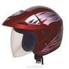dark red china cross motorcycle helmets 3/4 open face dot