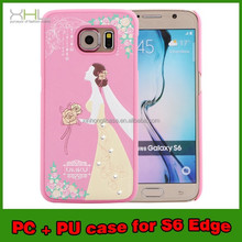 UMKU high quality case for lady for samsung s6 pc pu cell phone case