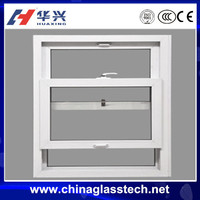 Thermal break/normal aluminum alloy frame single toughed glass double hung window,top-down sliding windows ,push up windows,