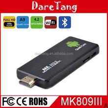 2015 New products mini pc arrival Quad Core RK3188-A9 1.8Ghz 2GB 8GB mk809 iii android 4.4 smart cheap mini pc