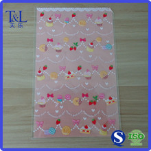 Beautiful and cute one side printed candy or gift packaged fatcory OPP bag