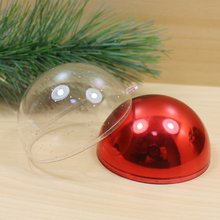 Wholesale Colorful Outdoor clear plastic Christmas Ball Decorations Fashion in 2015