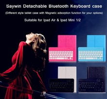 Slim Aluminum Separating Wireless Bluetooth Keyboard Dock Case Cover for iPad 2 3rd 4th