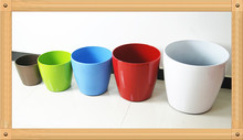 0821 colorful various size plastic glossy flower pots