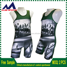custom lycra wrestling singlet for men
