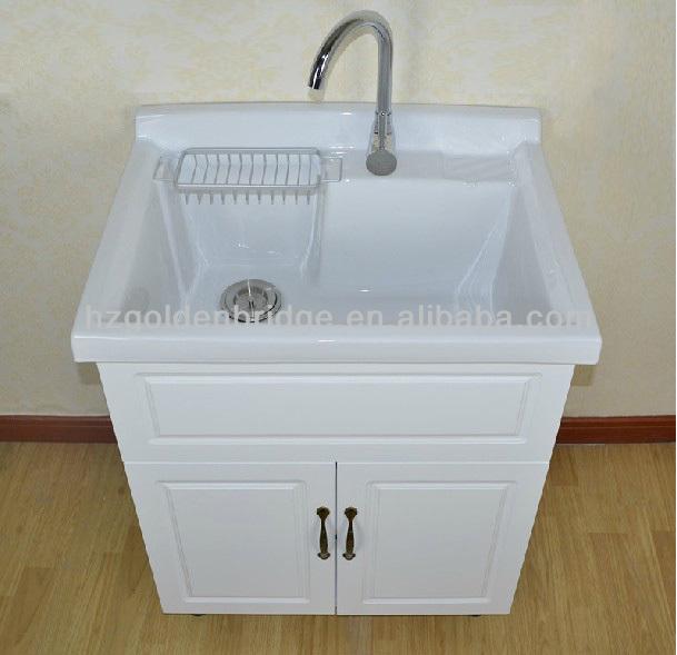 Laundry Wash Tub : Tanque de lavar roupa com arm?rio LD01-Penteadeiras para banheiro-ID ...
