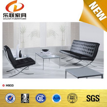 high quality sofa real leather op grain genuine leather sofa antique console furniture H-933