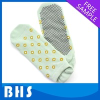 sock with rubber sole adult/adult rubber sole sock