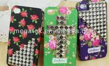cell phone case Flower Rubber 3d clinch hard case for iphone 5 5s, for iphone 5 case flower clinch,for iphone case 5s hard