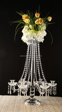 2015 high quality crystal candle holders wedding table decorations made from China