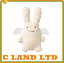 """13"""" plush rabbit with polyester T-shirt for sublimation printing"""