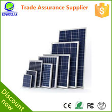 global High efficiency 30 watt poly solar panel for small solar power system